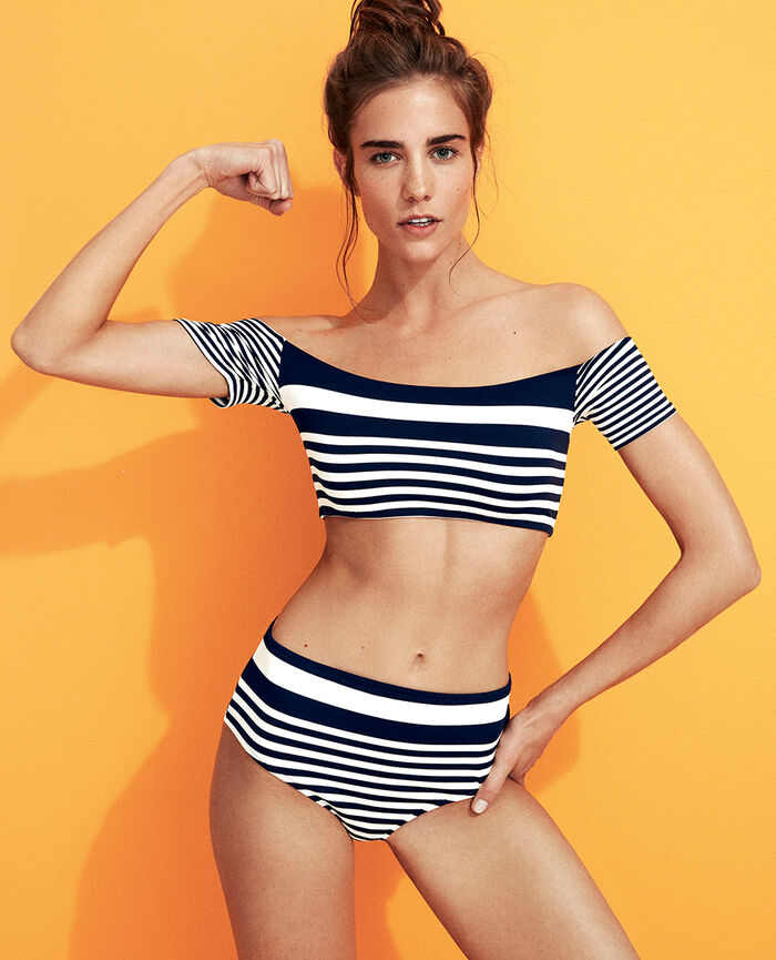 Beach top Blue stripes Lisa