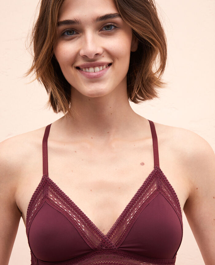 Soft cup bra Cassis red Eclat