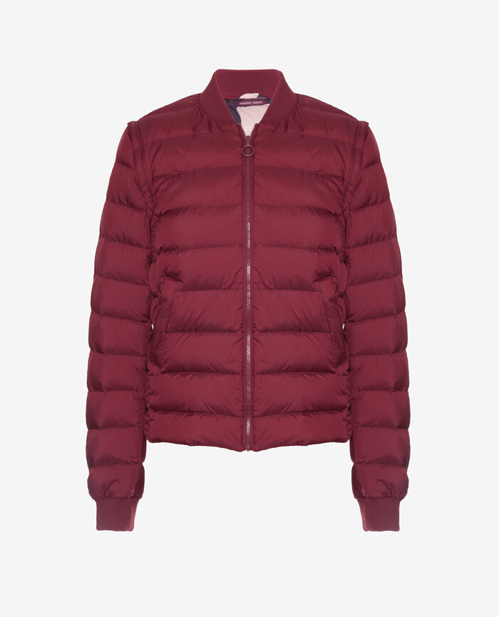 Doudoune manches amovibles Cassis red Ultra light