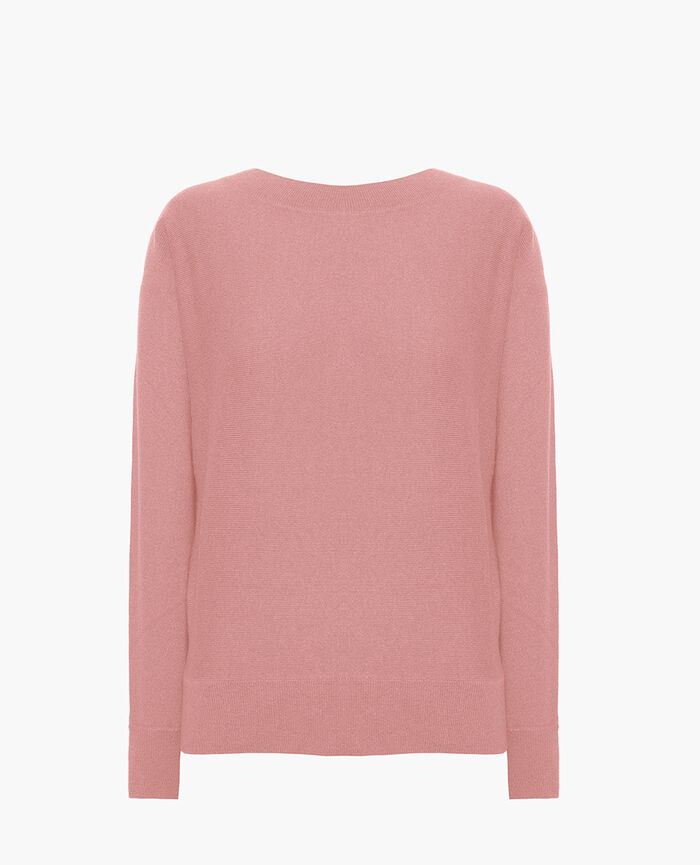 Boatneck jumper Pink pomegranate Icone