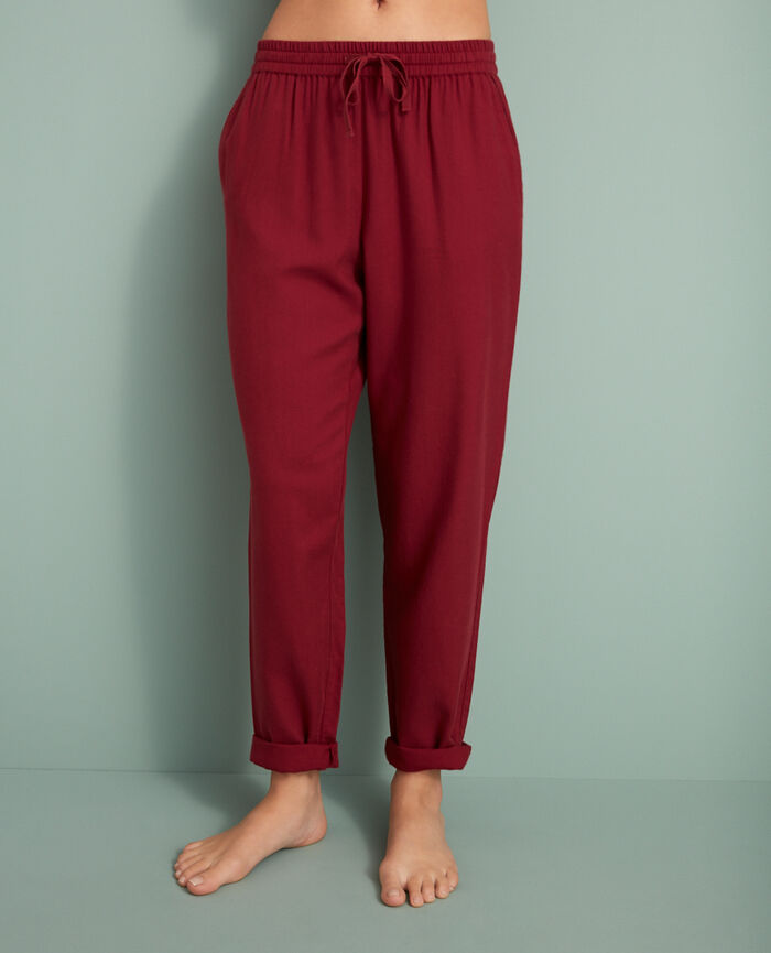 Carrot pants Leather red Abysse