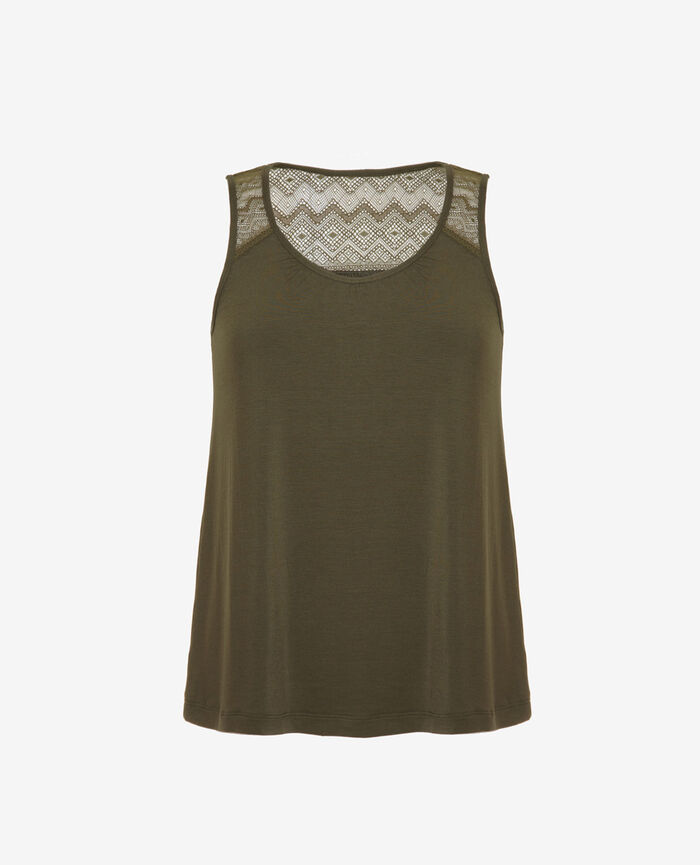 Vest top Moss green Douceur