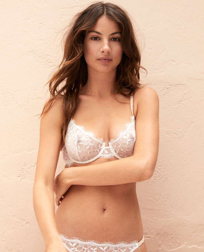 Half-cup bra Rose white Arty