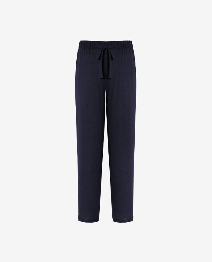 Pyjama trousers Navy blue Latte