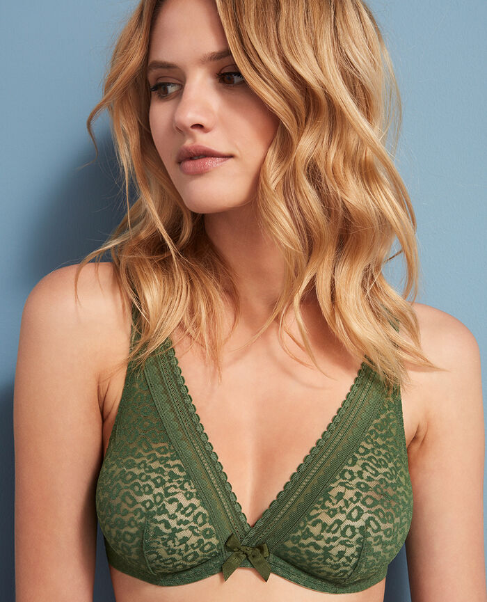 Underwired triangle bra Agency green Belle