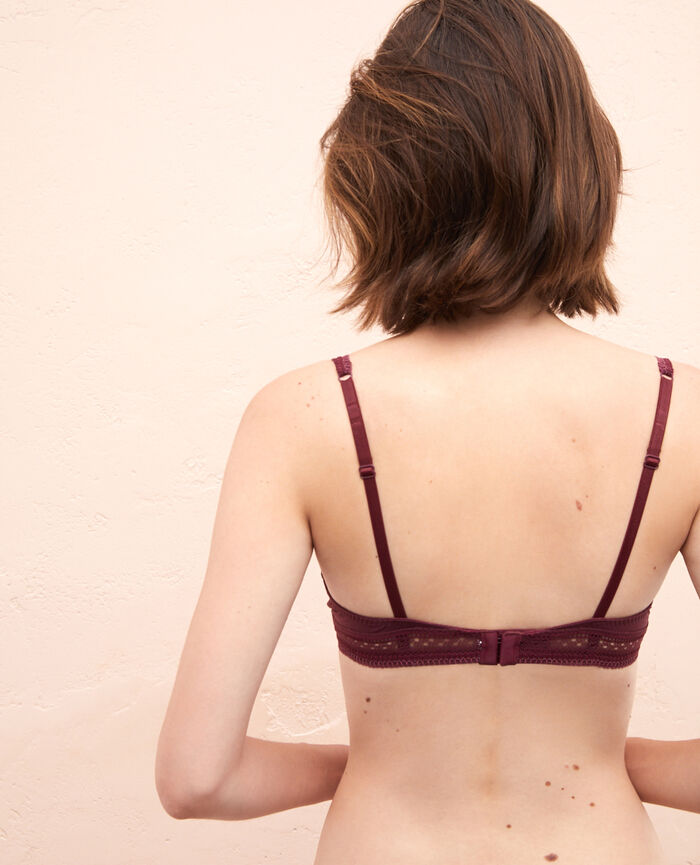Underwired triangle bra Cassis red Eclat