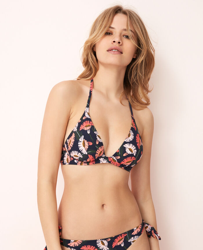 Mini-wire triangle bikini top Multicolore Gloria