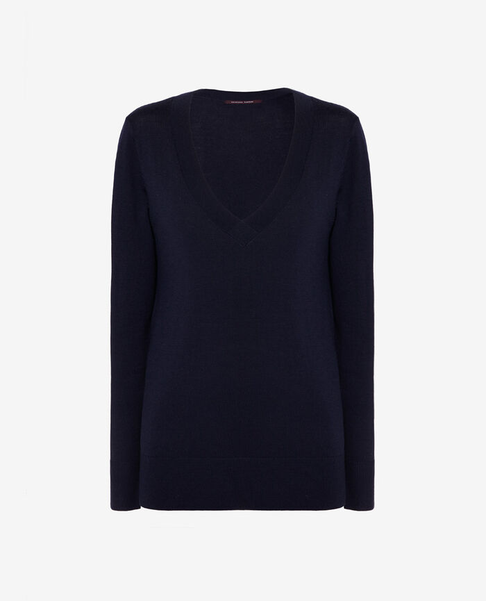 V-neck jumper Manhattan blue Extra