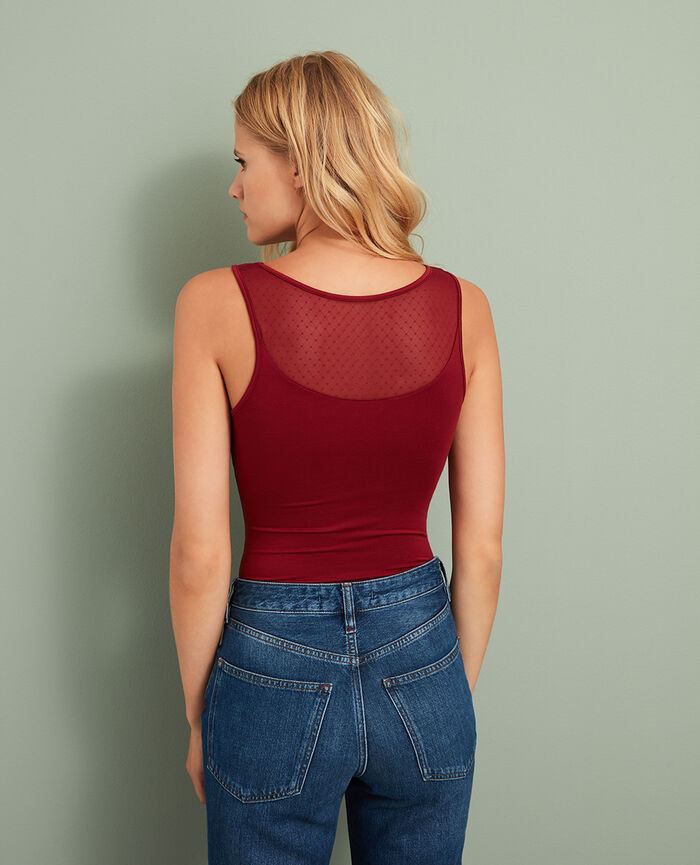 Vest top Leather red Innerwear