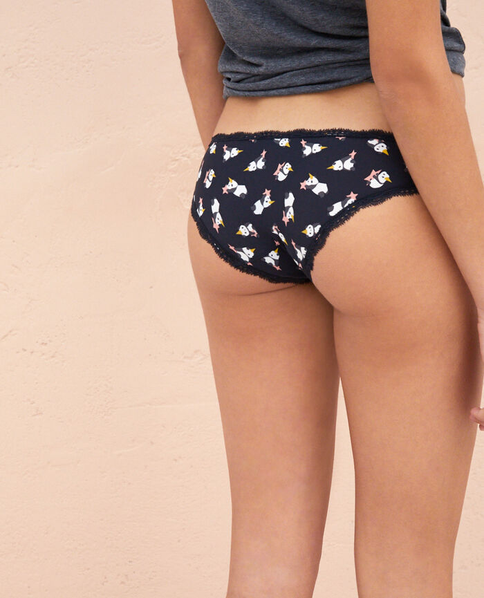 Hipster briefs Multicolor flowers Take away