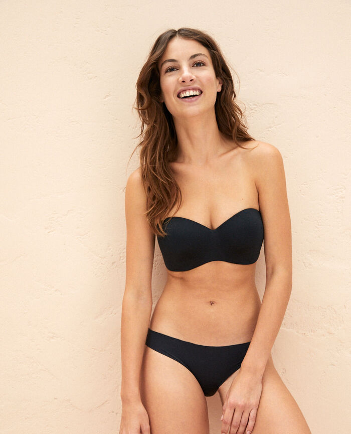 Softcup bandeau bra with cups Black Fantome