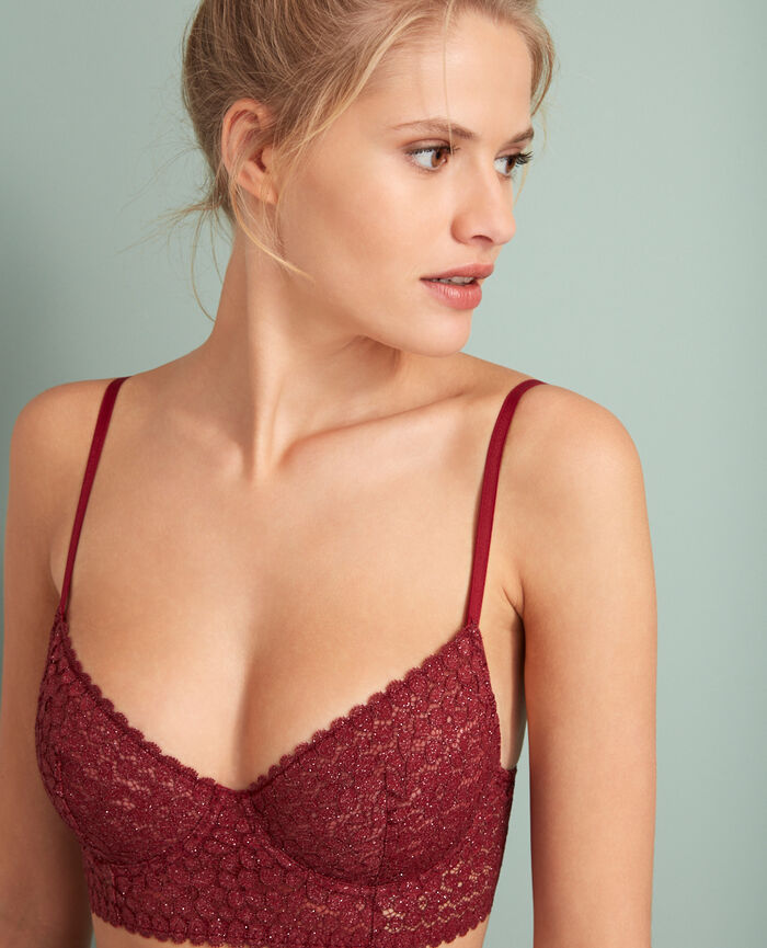Bustier bra Leather red Movica