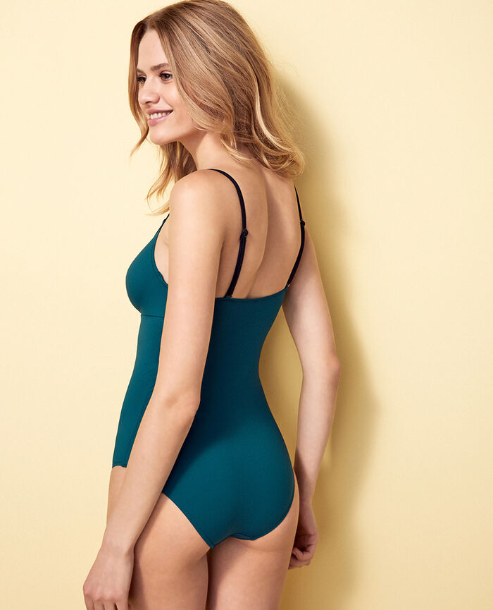 Concealed underwired swimsuit Midnight green Impala