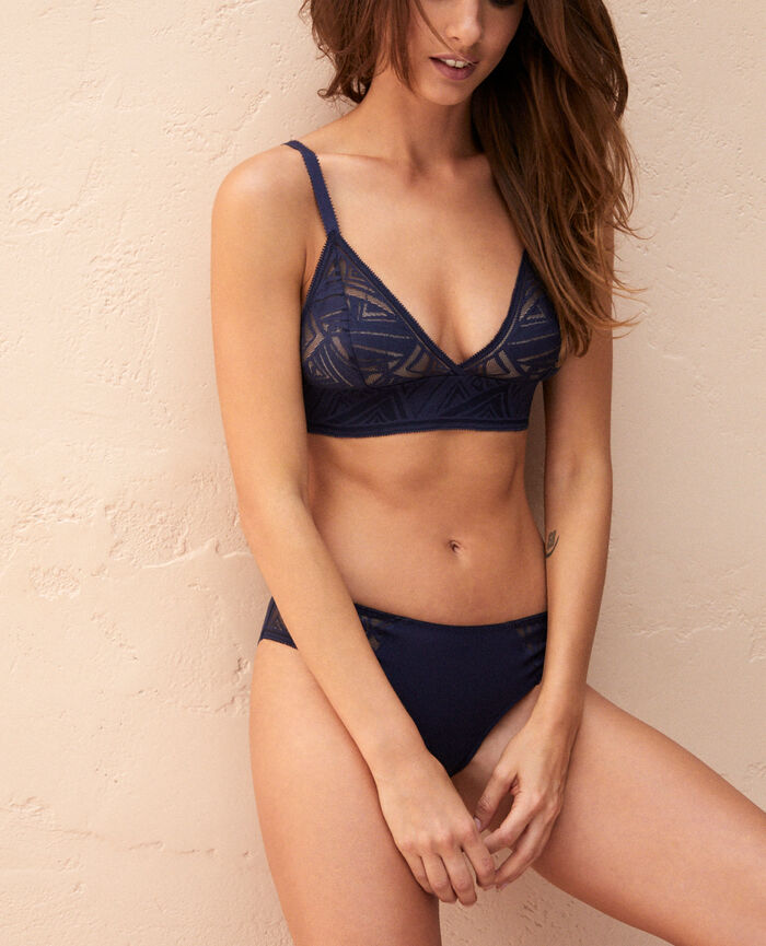 Soft cup bra Navy Graphik