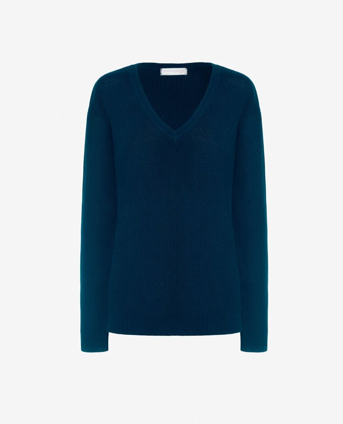 V-neck jumper Sombrero blue Cachou