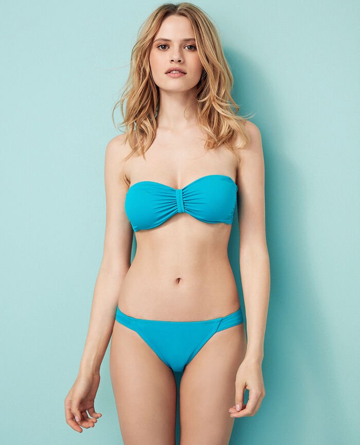 High-cut bikini briefs Turquoise Princesse tam.tam x uniqlo