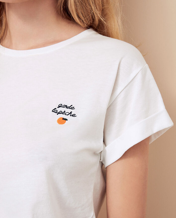 Short-sleeved t-shirt Peach Fruit collection