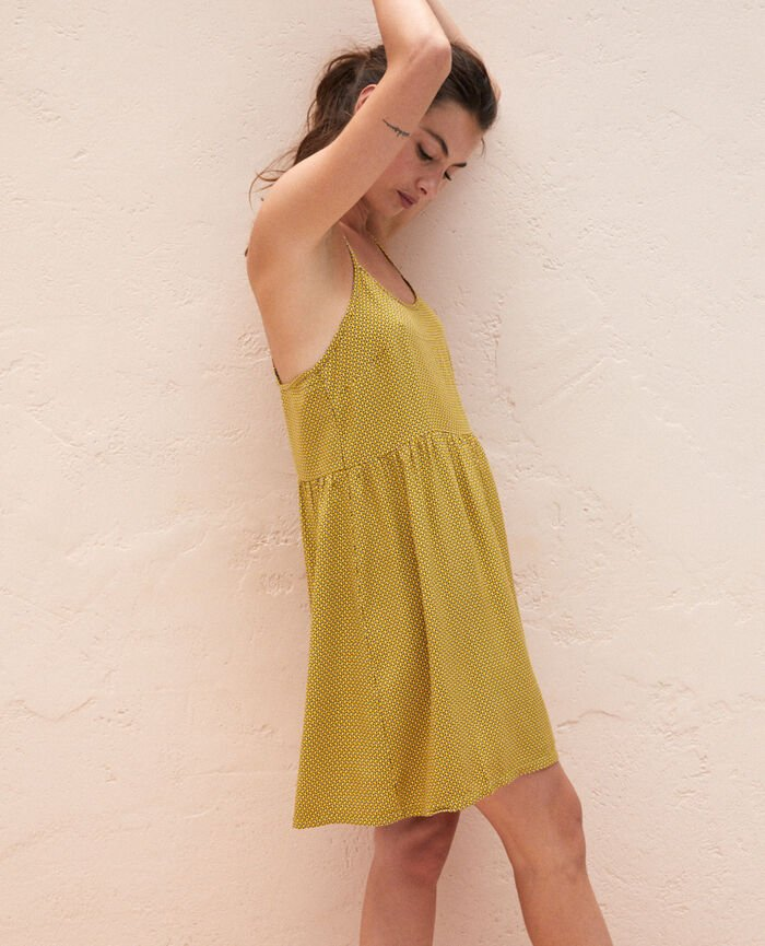 Short nightie Yellow tie Pictural
