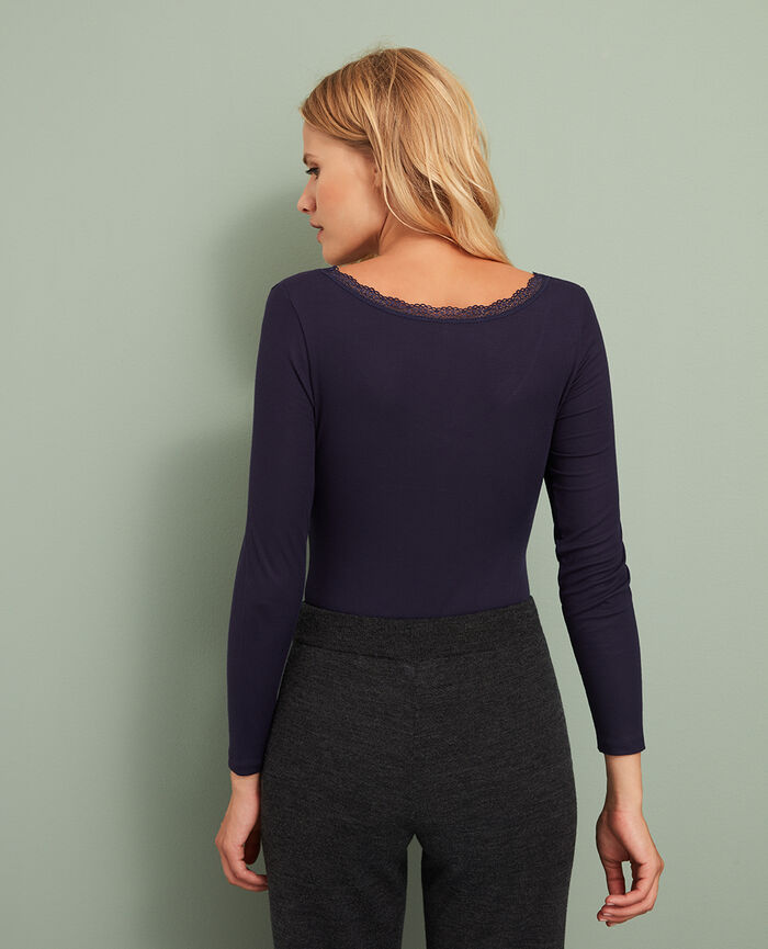 7/8 sleeved top Manhattan blue Lovely