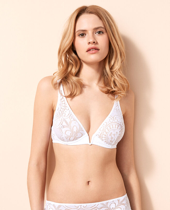 Underwired triangle bra Blanc Evasion