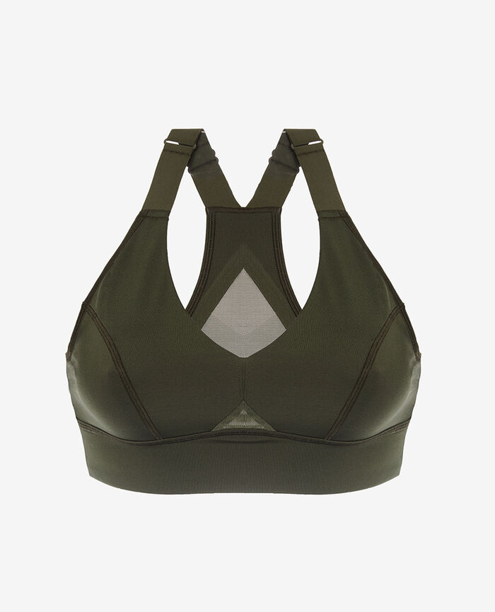 Soft sports bra Moss green Run