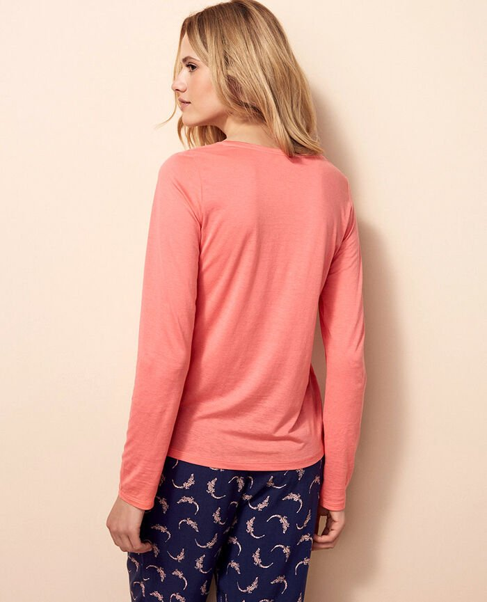 Long-sleeved t-shirt Funky pink Latte