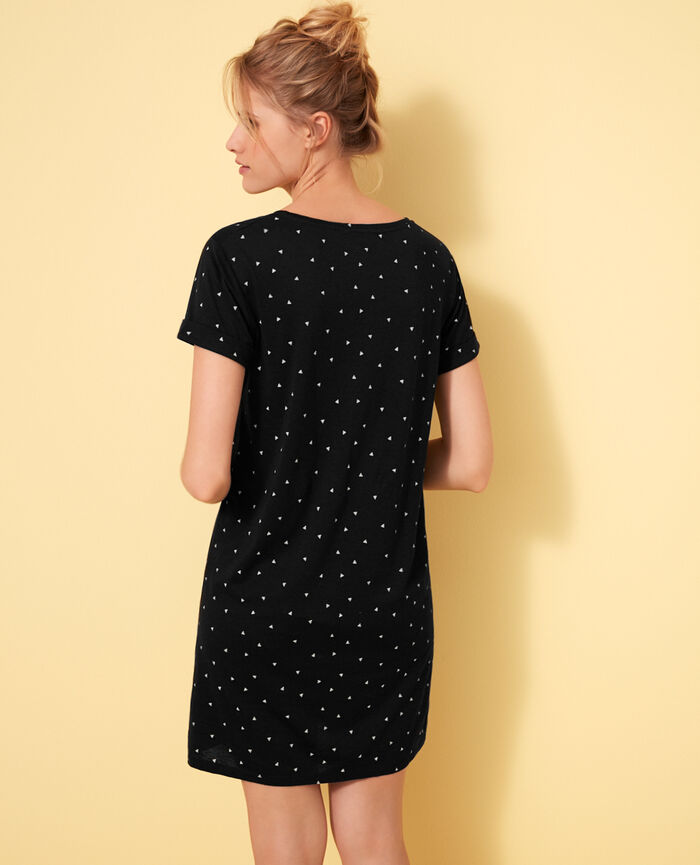 Short-sleeve nightdress Moonlight Latte