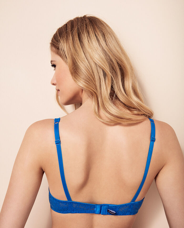 Underwired triangle bra Samba blue Bella