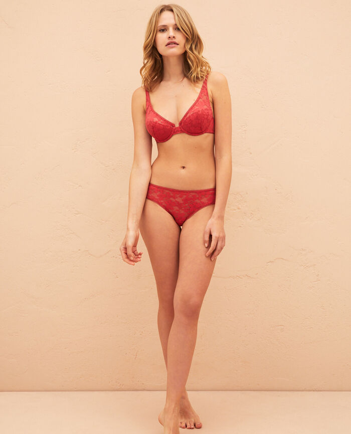 Shorts Peony red Lumiere