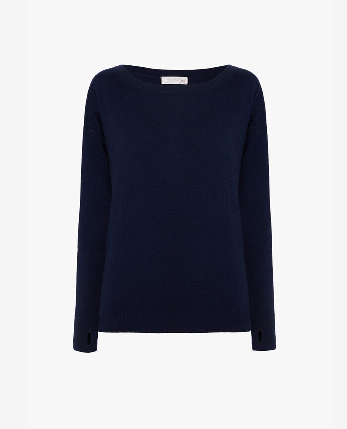Boatneck jumper Manhattan blue Cozy