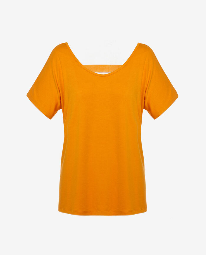 Sport short-sleeved t-shirt Maya orange Yoga