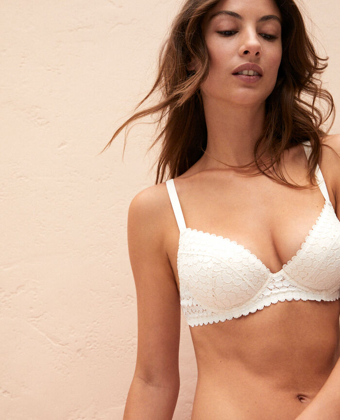 Padded push-up bra Rose white Monica
