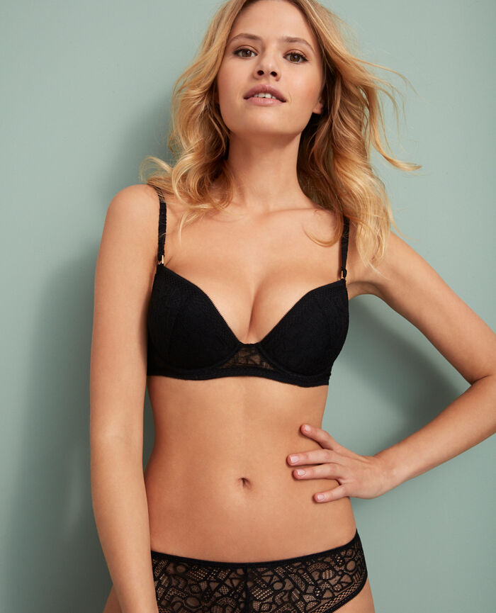 Padded push-up bra Black Manhattan