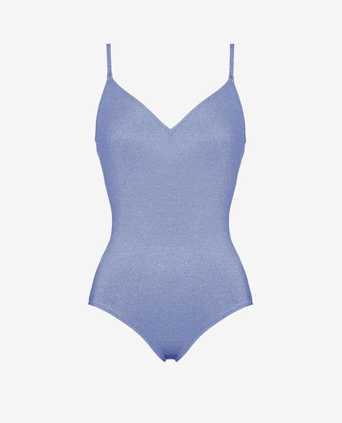 Swimsuit Shiny bleu Bella vita