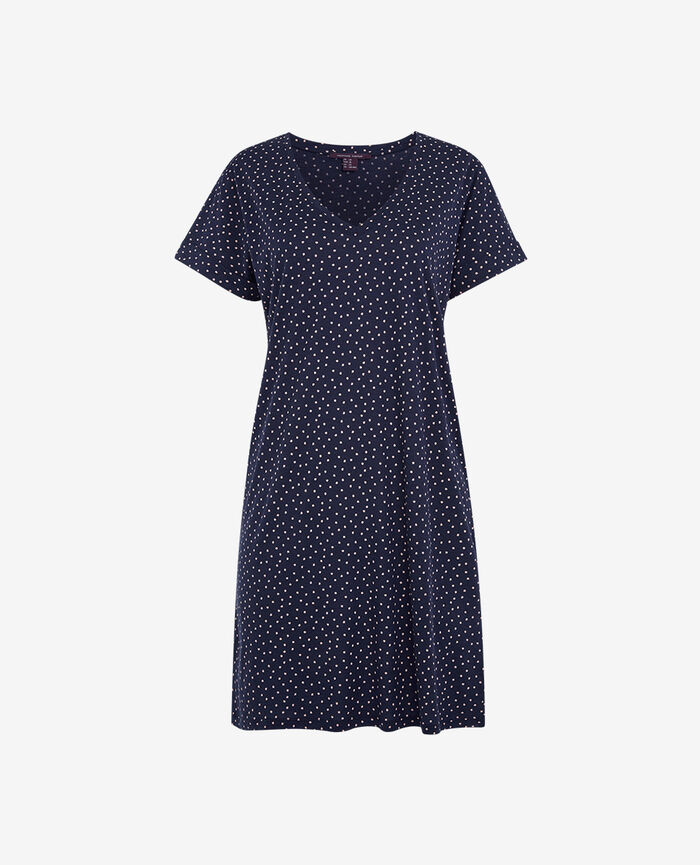 Tunic Navy Dot