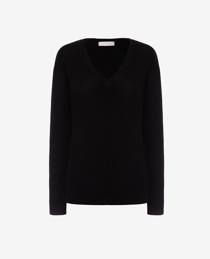 V-neck jumper Black Cachou