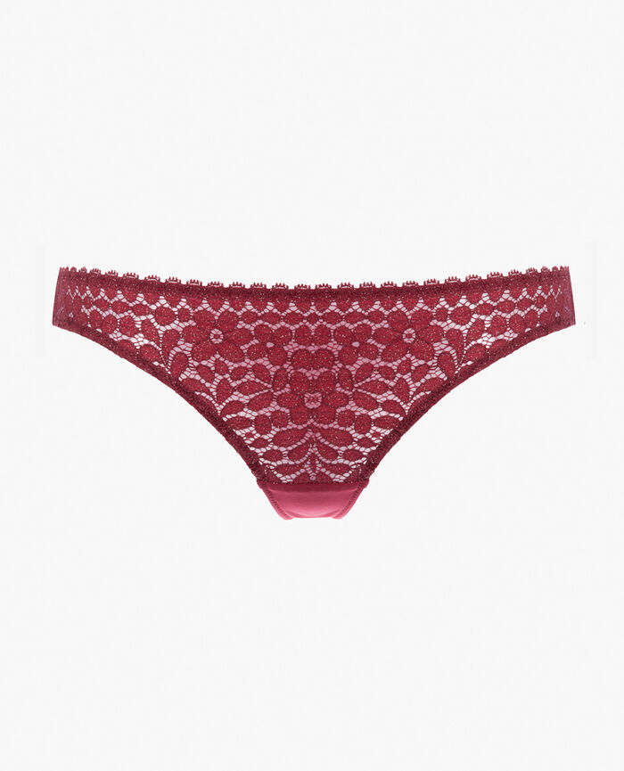 Hipster briefs Leather red Movica