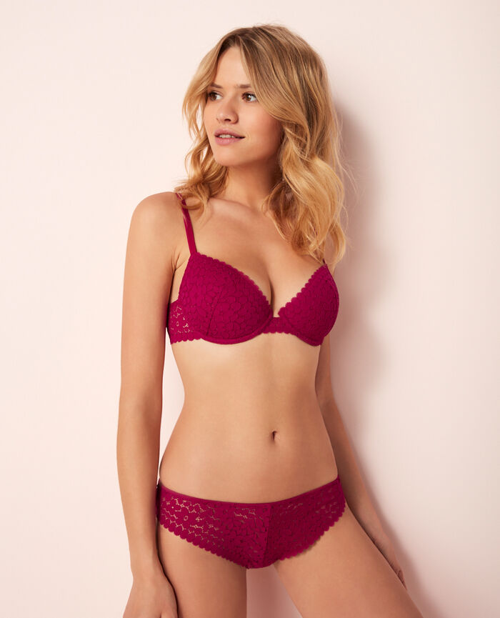 Half-cup padded bra Mariachis violet Monica