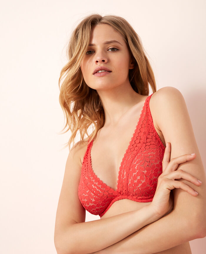 Underwired triangle bra Rose vitaminé Monica