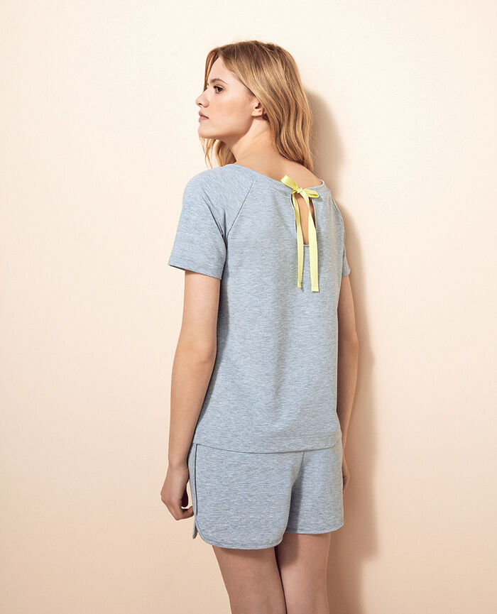 Short-sleeved t-shirt Flecked grey Air loungewear