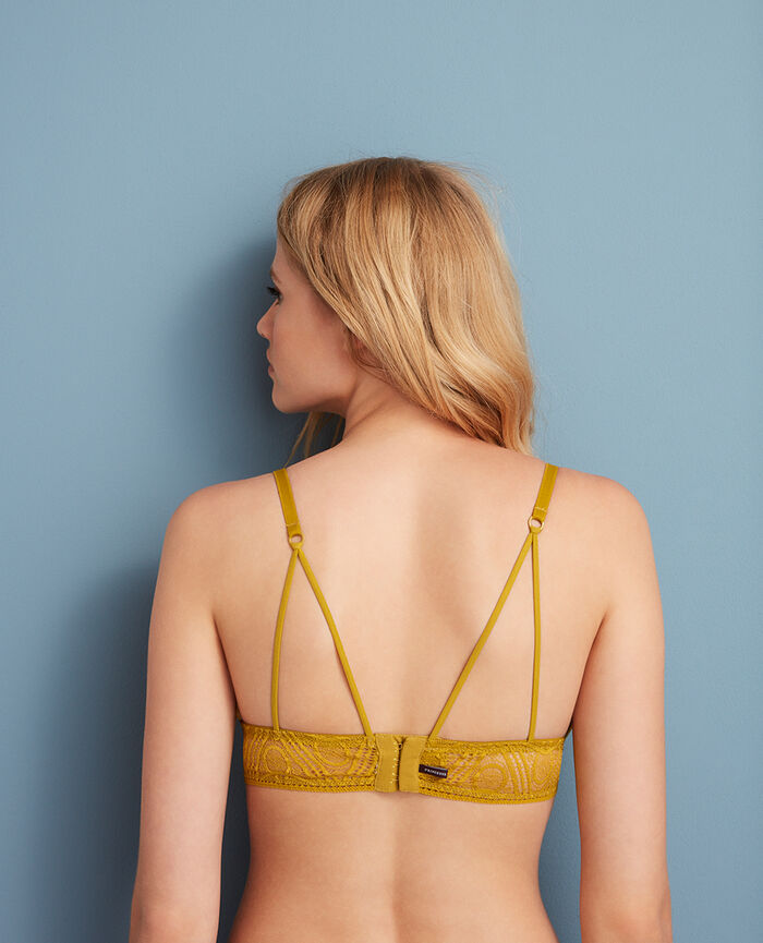 Soft cup bra Pickles yellow Boheme