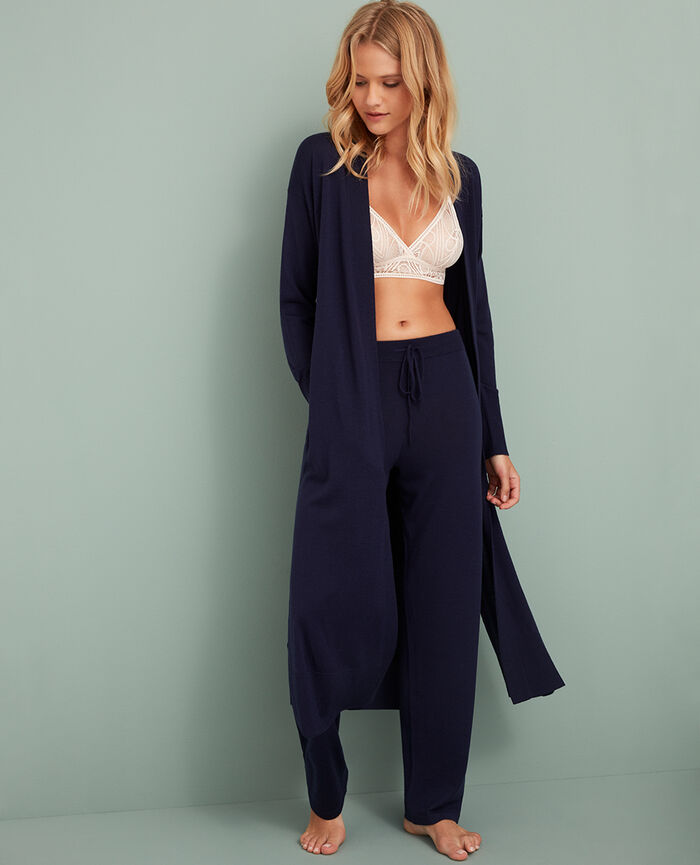 Long-sleeved cardigan Manhattan blue Extra