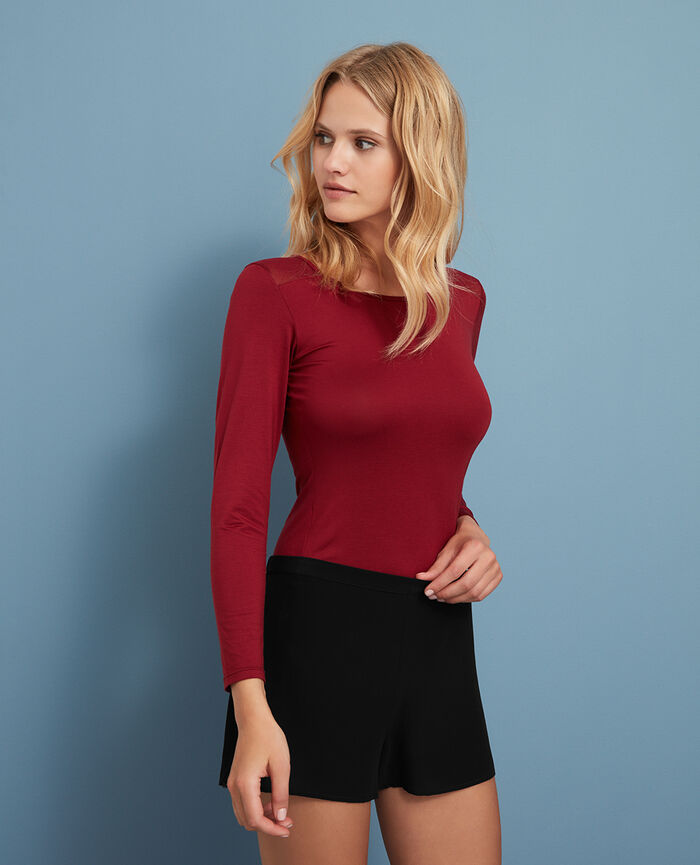 Long-sleeved t-shirt Leather red Innerwear