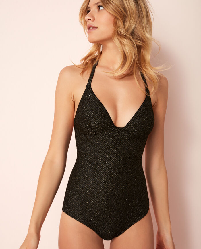 Concealed underwired swimsuit Black Wahou