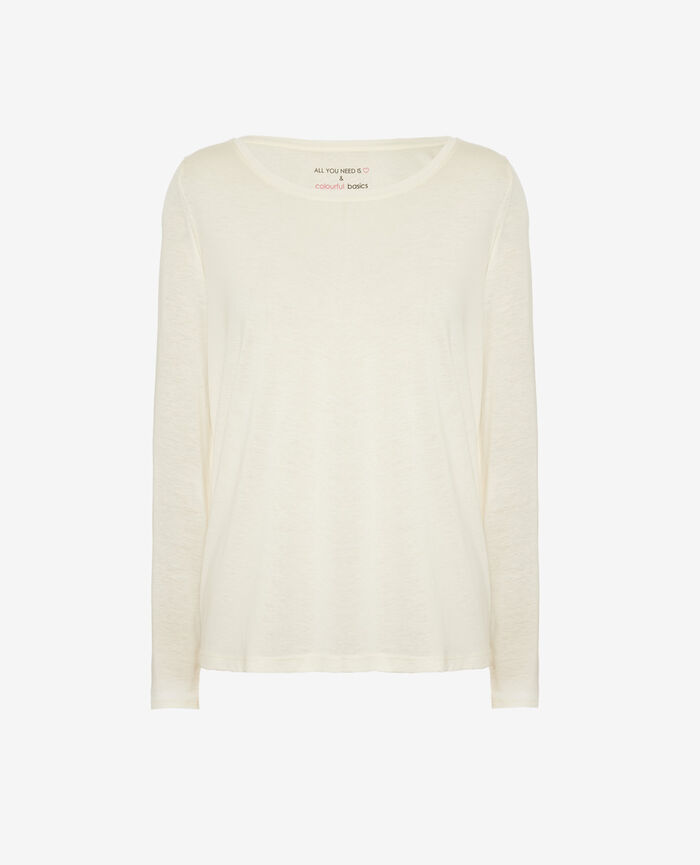 Long-sleeved t-shirt Ivoiry Latte