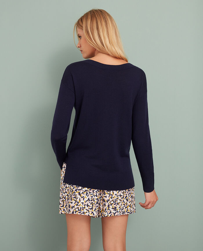 Boatneck jumper Bleu manhattan Extra