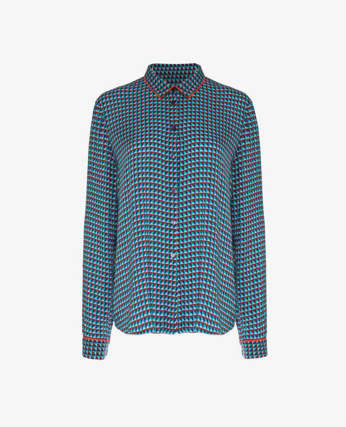Shirt Geometric blue Bella vita