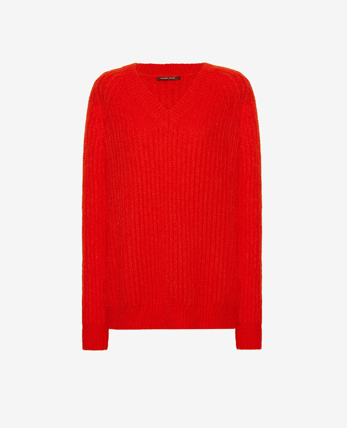 V-neck jumper Flash red Sensation