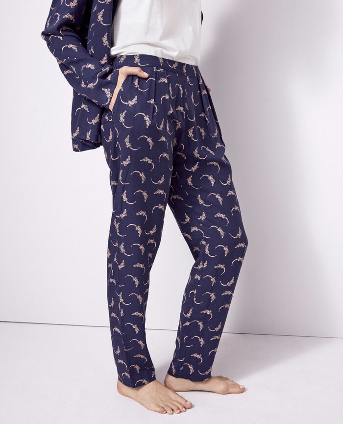 Carrot pants Navy Croco