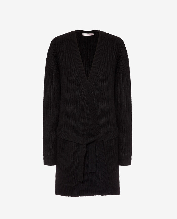 Long-sleeved cardigan Black Moka
